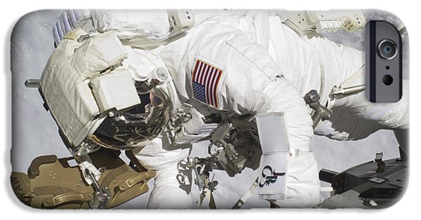 Components iPhone Cases - An Astronaut Participates In A Session iPhone Case by Stocktrek Images