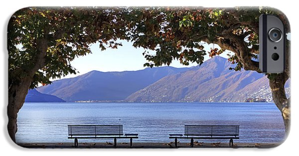 Planes Photographs iPhone Cases - Ascona - Lake Maggiore iPhone Case by Joana Kruse