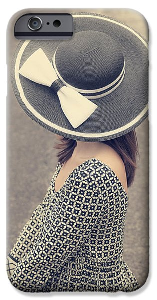 60s Hair iPhone Cases - Black And White iPhone Case by Joana Kruse