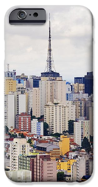 Buildings of Downtown Sao Paulo iPhone Case by Jeremy Woodhouse