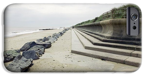 North Sea iPhone Cases - Coastal Defences, Norfolk iPhone Case by Colin Cuthbert