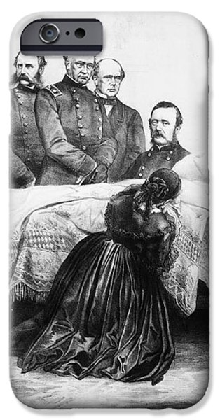 DEATH OF LINCOLN, 1865 iPhone Case by Granger
