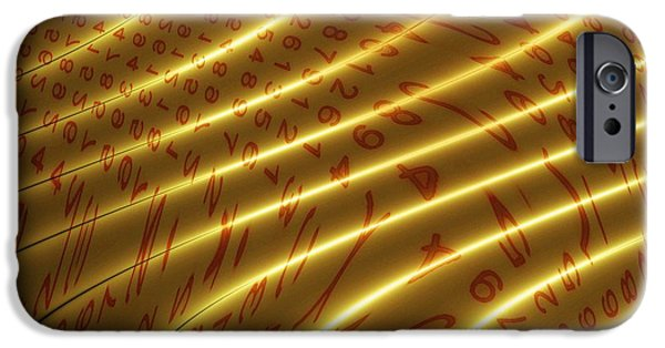 Cyberspace iPhone Cases - Digital Communication, Conceptual Artwork iPhone Case by Mehau Kulyk