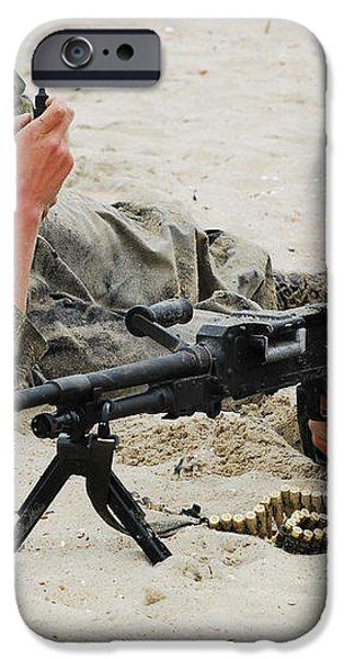Dutch Royal Marines Taking Part iPhone Case by Luc De Jaeger