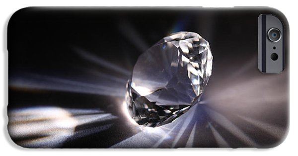 Refracted Light iPhone Cases - Faceted Quartz Gem iPhone Case by Ted Kinsman