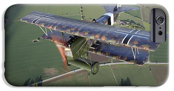 World War One iPhone Cases - Fokker D.vii World War I Replica iPhone Case by Daniel Karlsson