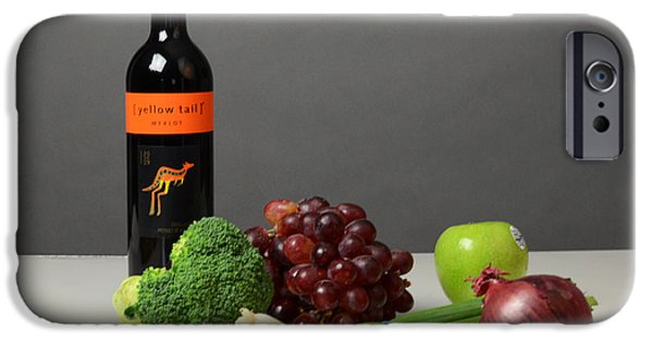 Table Wine iPhone Cases - Foods Rich In Quercetin iPhone Case by Photo Researchers, Inc.