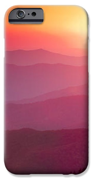 Great Smokie Mountains Sunset iPhone Case by Dustin K Ryan