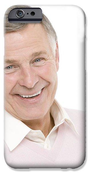 Happy Senior Man iPhone Case by