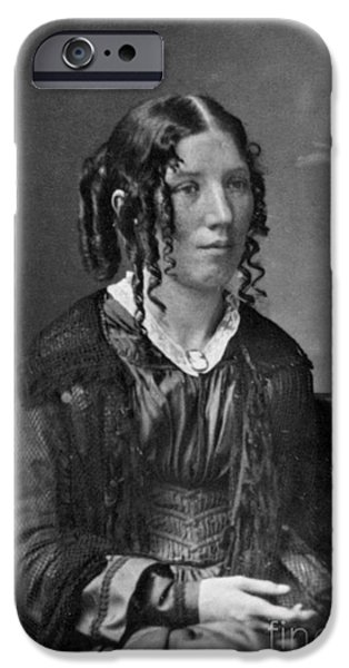 Antislavery iPhone Cases - Harriet Beecher Stowe, American iPhone Case by Photo Researchers