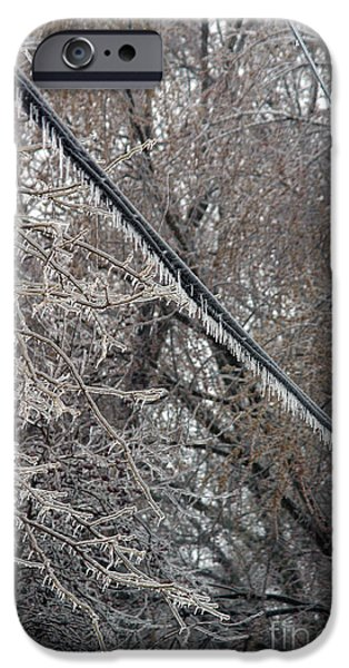 Winter Storm iPhone Cases - Ice Storm iPhone Case by Ted Kinsman