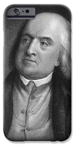 Jeremy iPhone Cases - Jeremy Bentham (1748-1832) iPhone Case by Granger