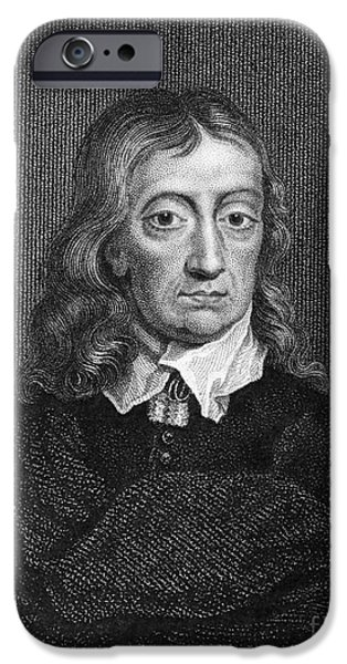 Autographed Photographs iPhone Cases - John Milton (1608-1674) iPhone Case by Granger