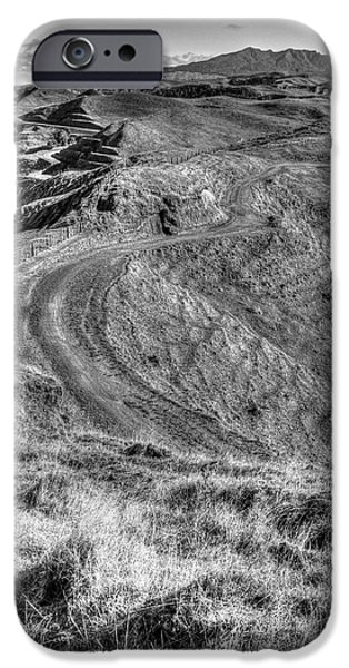 Black And White Landscapes iPhone Cases - Landscape iPhone Case by Les Cunliffe