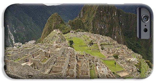 Ruin iPhone Cases - Machu Picchu, Peru iPhone Case by Matthew Oldfield