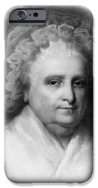 Martha Washington, American Patriot iPhone Case by Photo Researchers