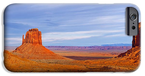 Nation iPhone Cases - Monument Valley iPhone Case by Brian Jannsen