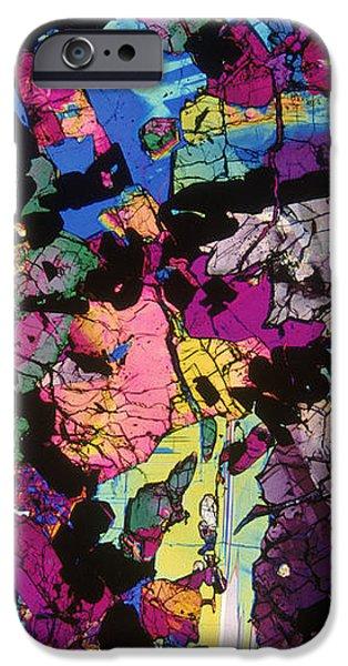 Moon Rock, Transmitted Light Micrograph iPhone Case by Michael W. Davidson - FSU
