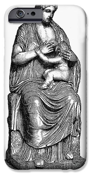 Hera iPhone Cases - Mythology: Hera/juno iPhone Case by Granger