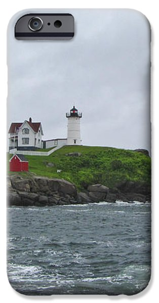 Nubble Lighthouse iPhone Case by Warren Carrington