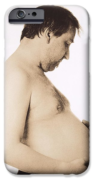 Eating Disorders iPhone Cases - Obesity iPhone Case by Cristina Pedrazzini