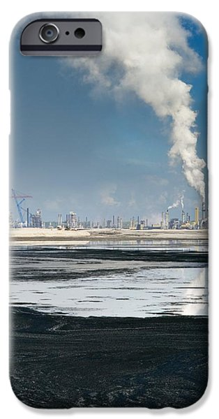 Oil Slick iPhone Cases - Oil Industry Pollution iPhone Case by David Nunuk