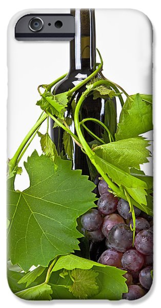 Wine Bottles Photographs iPhone Cases - Red wine iPhone Case by Joana Kruse