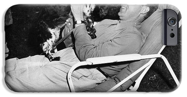 Lawn Chair iPhone Cases - Richard Nixon (1913-1994) iPhone Case by Granger