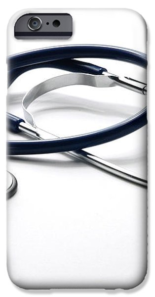Stethoscope iPhone Case by Photo Researchers, Inc.