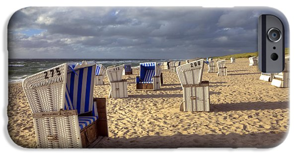 Beach Chair iPhone Cases - Sylt iPhone Case by Joana Kruse