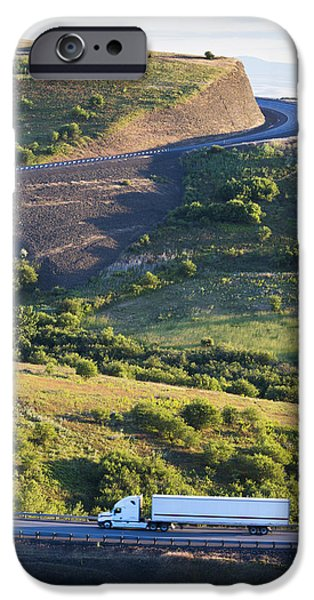 The Landscape Around The Interstate iPhone Case by Don Mason