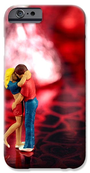 The Lovers in Valentine's Day iPhone Case by Paul Ge