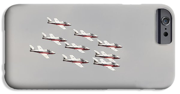 Snowbird iPhone Cases - The Snowbirds 431 Air Demonstration iPhone Case by Terry Moore