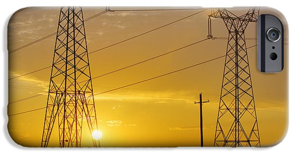 Electrical Equipment Photographs iPhone Cases - Untitled iPhone Case by Alan Majchrowicz