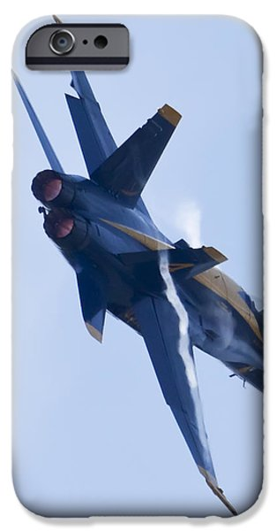 Hornet iPhone Cases - US Navy Blue Angels Poster iPhone Case by Dustin K Ryan