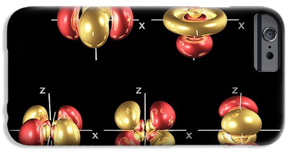 Electron Orbital iPhone Cases - 4d Electron Orbitals iPhone Case by Dr Mark J. Winter