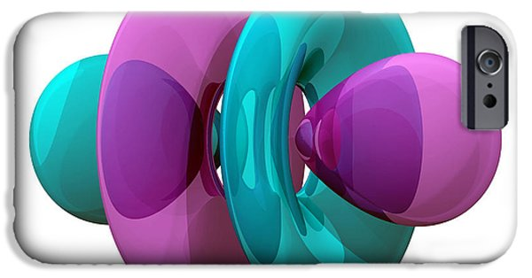 4fz3 iPhone Cases - 4fz3 Electron Orbital iPhone Case by Laguna Design