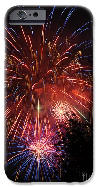 Fireworks iPhone Cases - 4th of July Fireworks - Salt Lake City- Utah iPhone Case by Gary Whitton