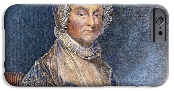 First Lady iPhone Cases - Abigail Adams (1744-1818) iPhone Case by Granger