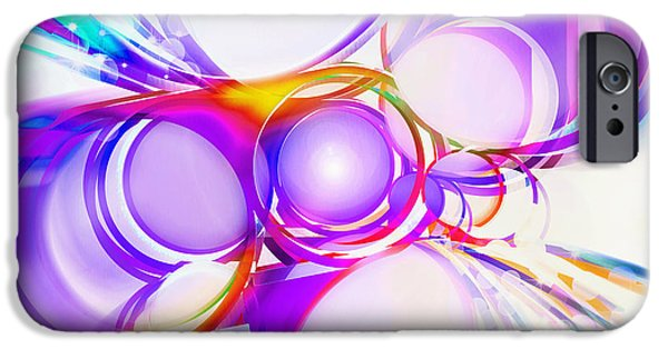 Torn iPhone Cases - Abstract Of Circle  iPhone Case by Setsiri Silapasuwanchai
