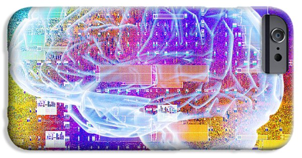 Microchip Photographs iPhone Cases - Artificial Intelligence iPhone Case by Pasieka