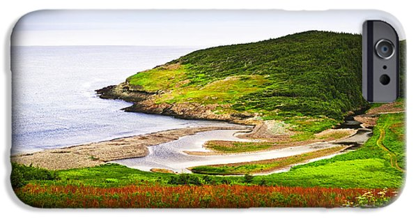 Low Tide iPhone Cases - Atlantic coast in Newfoundland iPhone Case by Elena Elisseeva