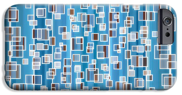 Deep Blue iPhone Cases - Blue Abstract iPhone Case by Frank Tschakert