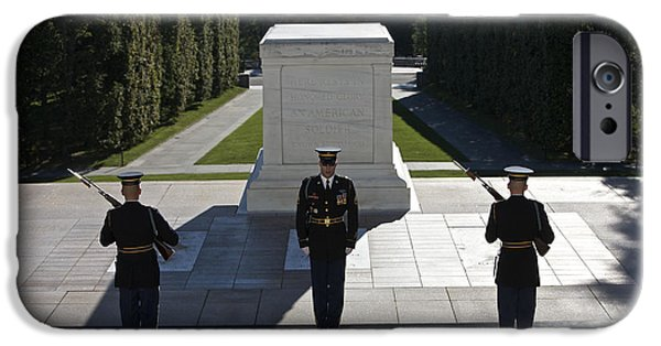 Recently Sold -  - Headstones iPhone Cases - Changing Of Guard At Arlington National iPhone Case by Terry Moore