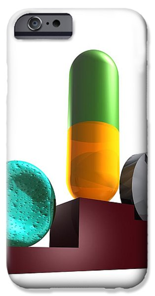 Healthcare And Medicine iPhone Cases - Drugs In Sport, Conceptual Artwork iPhone Case by Victor Habbick Visions