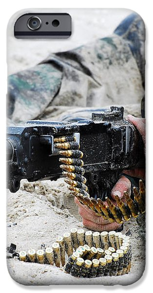 Dutch Royal Marines Taking Part iPhone Case by Luc De Jaeger