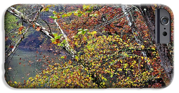 West Fork iPhone Cases - Fall along West Fork River iPhone Case by Thomas R Fletcher