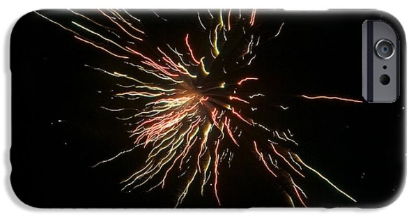 Fireworks iPhone Cases - Fireworks iPhone Case by Patrick M Lynch