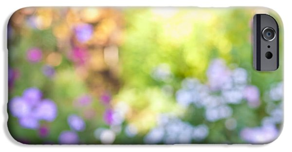 Flower Gardens Photographs iPhone Cases - Flower garden in sunshine iPhone Case by Elena Elisseeva