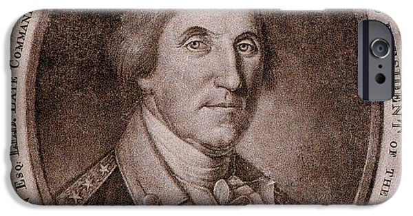 American Revolution iPhone Cases - George Washington, 1st American iPhone Case by Photo Researchers